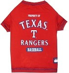 Texas Rangers Baseball Dog Shirt