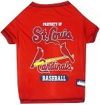 St. Louis Cardinals Baseball Dog Shirt