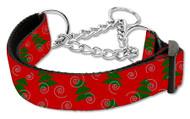 Christmas Tree Martingale Dog Collar