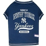 New York Yankees Baseball Dog Shirt