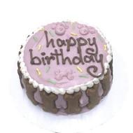 Pink Standard Dog Birthday Cake