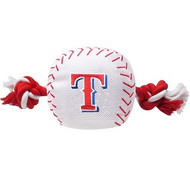 Texas Rangers Baseball Rope Dog Toy