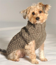 Grey Cable Knit Dog Sweater