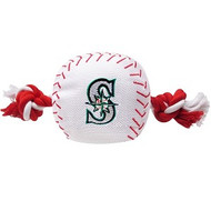 Seattle Mariners Baseball Rope Dog Toy