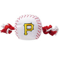 Pittsburgh Pirates Baseball Rope Dog Toy