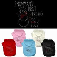 Snowman's Best Friend Dog Hoodie