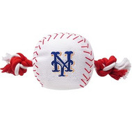 New York Mets Baseball Rope Dog Toy