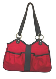 METRO 2 Red with Black Trim  Dog Bag