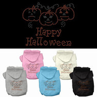 Happy Halloween Rhinestone Dog Hoodie-Choose Your Color!