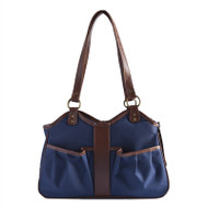 Navy with Tan Trim Metro 2 Dog Bag