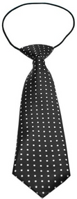 Swiss Dot Dog Neck Tie
