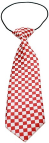Checkered Dog Neck Tie