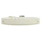 10mm Two Tier White Faux Croc Dog Collar