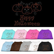 Happy Halloween Rhinestone Dog T-Shirt-Choose Your Color!
