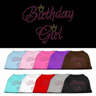 Brithday Girl Rhinestone Dog Shirt