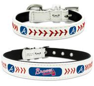 Atlanta Braves Leather Dog Collar