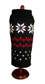 Black Fair Isle Snowflake Sweater