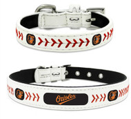 Baltimore Orioles Leather Dog Collar
