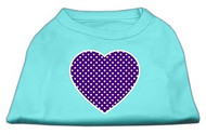 Purple Heart Polka Dot Dog Shirt