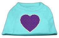 Purple Heart Polka Dot Dog Shirt