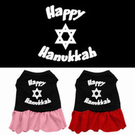 Happy Hanukkah Dog Dress
