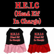 Head Elf In Charge Dog Dress