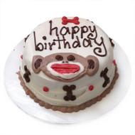 Personalized Sock Monkey Dog Cake