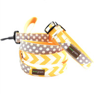 Stewie Chevron & Polka Dot Dog Collar
