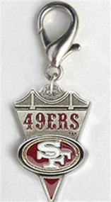 San Francisco 49ers Dog Collar Charm