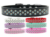 Rim-Set AB Crystal Dog Collar