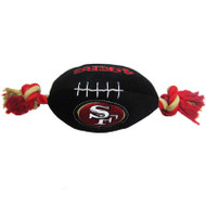 San Francisco 49ers Plush Football Dog Toy