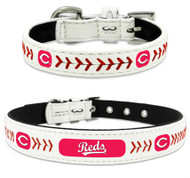 Cincinnati Reds Leather Dog Collar