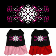 Pink Snowflake Dog Dress