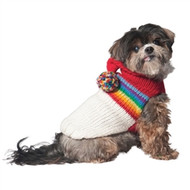 Vintage Ski Hoodie Dog Sweater