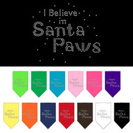 I Believe in Santa Paws Dog Bandana