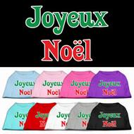 Joyeux Noel Dog T-Shirt