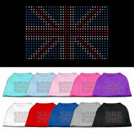British Flag Rhinestone Dog Shirt