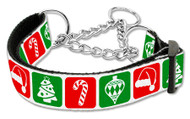 Timeless Christmas Martingale Dog Collar
