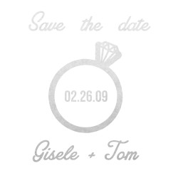 Personalize 'THE RING' custom metallic temporary tattoo for a fun and unique addition to Save the Date or Wedding invitations!   #FLASHTATFORME @FlashTattoos