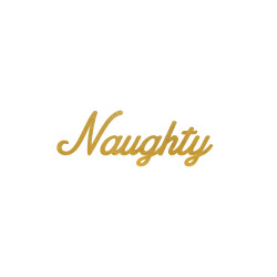 It's that time of the year - stock up on the holiday inspired 'NAUGHTY' metallic gold party tat.   #FLASHTAT  @FlashTattoos