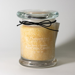 Frankincense + Myrrh scented palm wax candle