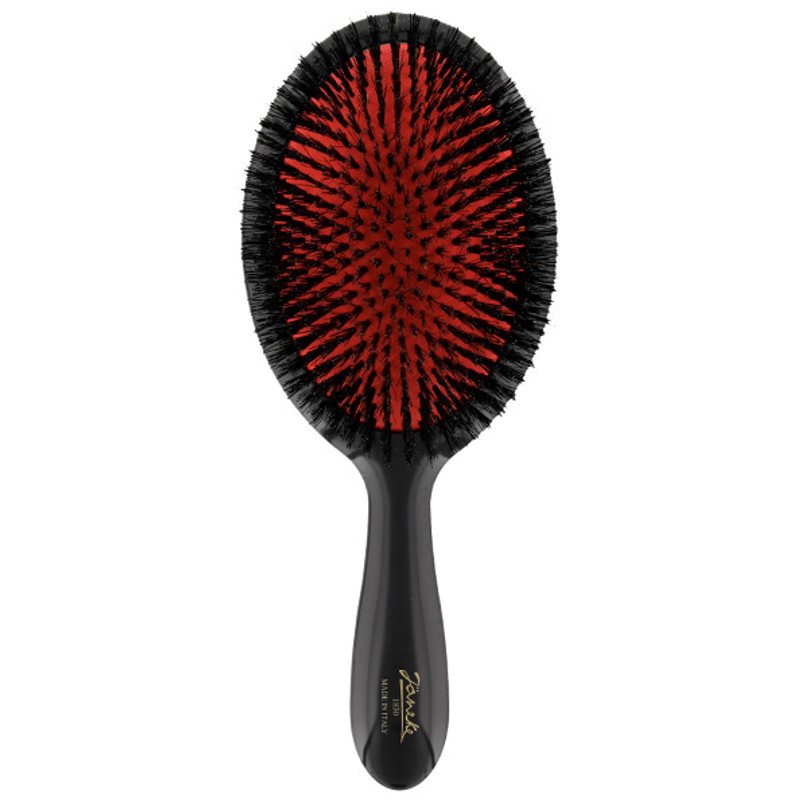 Pure Boar Bristle Paddle Hairbrush (SP23SF_NER) by Janeke - Made in Italy since 1830