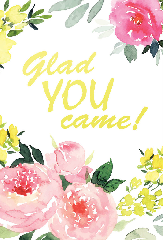Glad You Came Postcards - Pack of 25