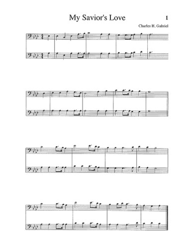 Songs & Hymns of Revival Orchestration: Trombone, Baritone, Cello