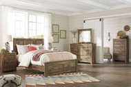 Blaneville Brown 5 Pc. Queen Storage Bed, Dresser, Mirror & Nightstand