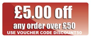 Enter code DISCOUNT50 during checkout to get £5 OFF any order over £50 before VAT and shipping