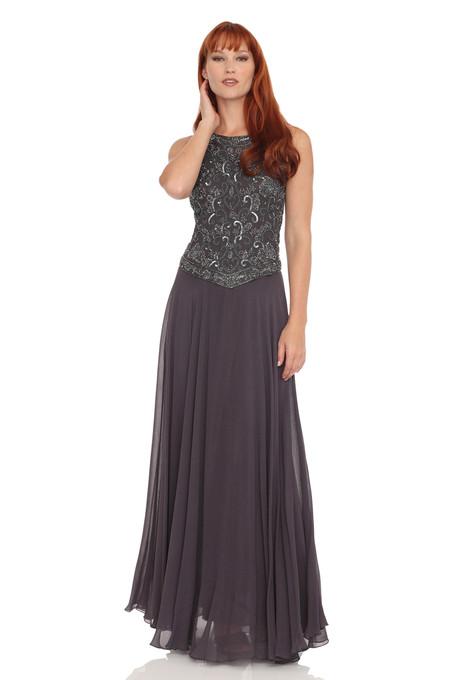 Sleeveless Beaded Chiffon Dress