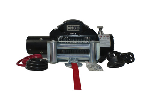 12,000 lbs. SR-Series Winch, Steel Cable with Roller Fairlead