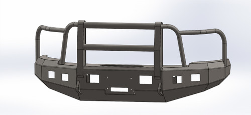 BUMPER WITH FULL GRILL GUARD FOR CHEVY 2015-2016, 2500-3500