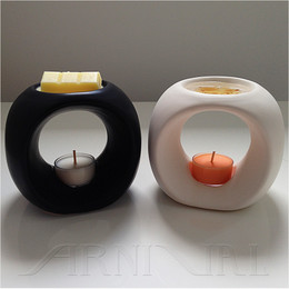 CERAMIC OIL BURNER - Round | WARMER/MELTER For Scented Wax Melts, Fragrance Oils and Essential Oils
